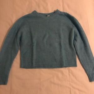 H&M extremely soft blue sweater
